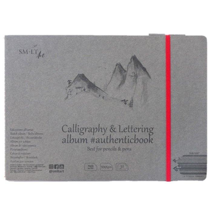 Caiet de desen #authenticbook Calligraphy & Lettering