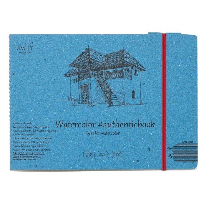 Caiet de desen #authenticbook Watercolor 24x90gr