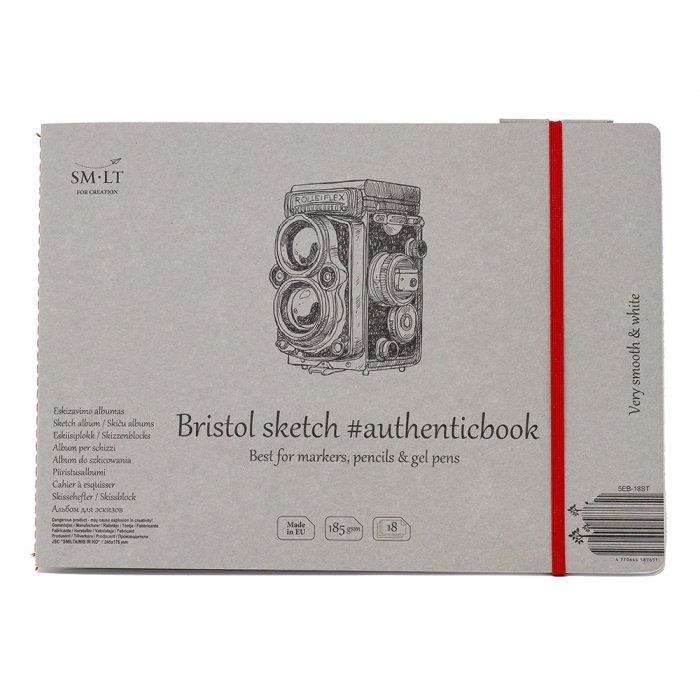 Caiet de desen #authenticbook Bristol 18x185gr
