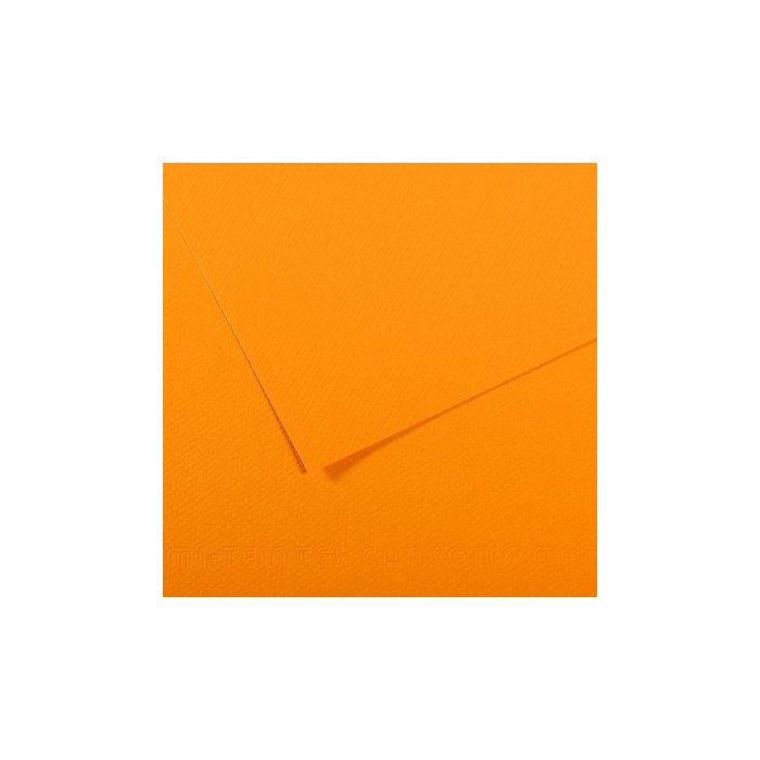Carton colorat Canson Mi Teintes A4 - cadmium yellow
