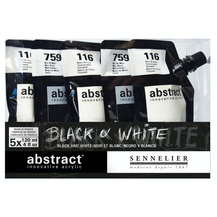 Set culori acrilice Abstract Black & White