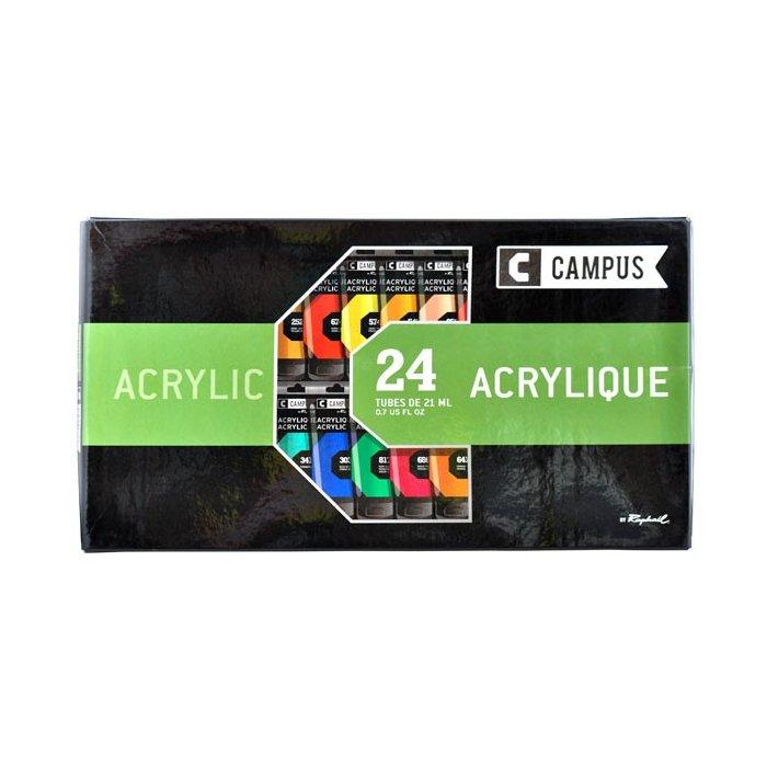 Set 24 culori acrilice campus 21 ml.