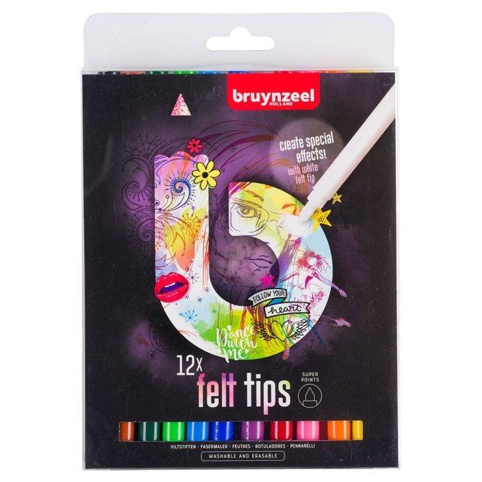 Set carioci Bruynzeel Felt Tip Set Light