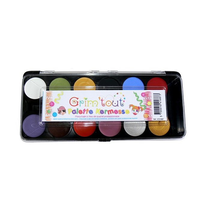 Set 12 culori pictura pe fata Grimtout - Mix