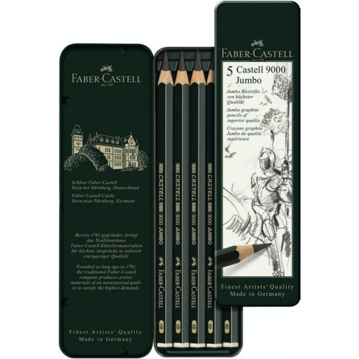 Set 5 creioane Faber Castell Jumbo 9000