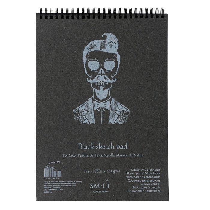 Bloc desen Sketch pads Authentic Black 165gr