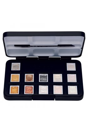 Set acuarele Van Gogh Pocket Box Metallic & Interference