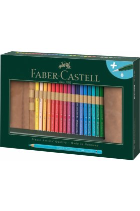 Set creioane colorate Faber Castell Durer Roll up 30