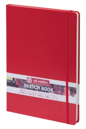 Art Creation Sketch Book Red