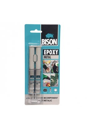 Adeziv bicomponent Bison Epoxy Metal