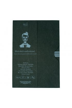 Sketch pads Authentic Black in folder 30x165gr A4