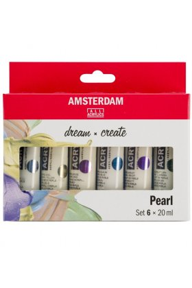 Set 6 culori acrilice Amsterdam 20 ml - Pearl Set