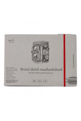 Caiet de desen #authenticbook Bristol 18x185gr