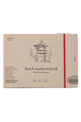 Caiet de desen #authenticbook Natural 24x90gr