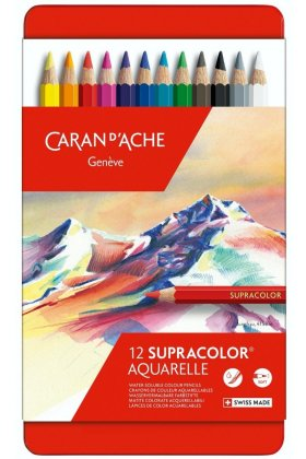 Set creioane colorate Supracolor Soft Aquarelle 12