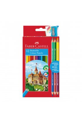 Set creioane colorate Faber Castell Eco 12+3