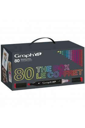 Set 80 carioci cu alcool Graph'it Box