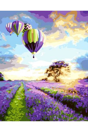 Pictura pe numere - Flying over the lavender field