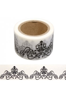 Hartie de orez adeziva Washi Tape 30 mm - Ornament