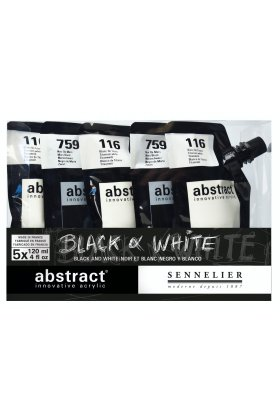 Set culori acrilice Abstract Black & White