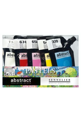 Set culori acrilice Abstract Pastels 120 ml.
