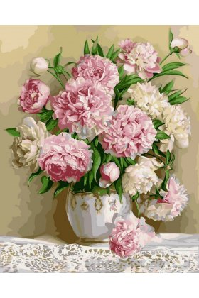 Pictura pe numere - Bouquet of Peonies