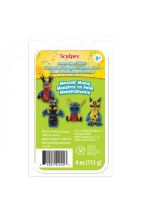 Set pasta polimerica Mini Clay Kit Monster Mania