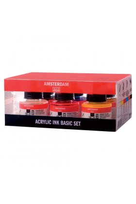 Set tus acrilic Amsterdam Acrylic Ink Basic Set