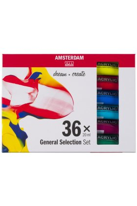 Set culori acrilice Amsterdam 20 ml 36 General Selection Set