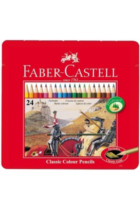 Set creioane colorate Faber Castell Classic  24 buc