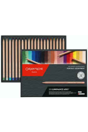 Set creioane colorate Caran d'Ache Luminance 20