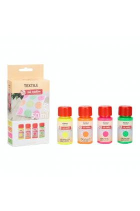 Set culori textile Art Creation 4 x 50 ml Neon