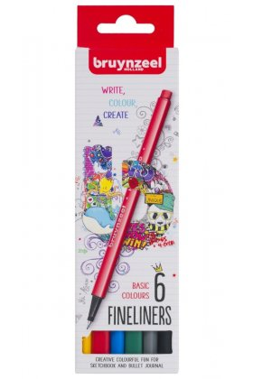 Set Bruynzeel Fineliner Basic 6