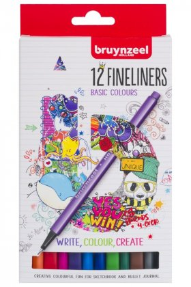 Set Bruynzeel Fineliner 12