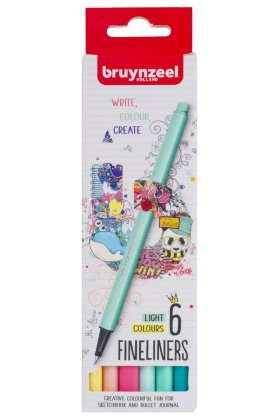 Set Bruynzeel Fineliner light 6