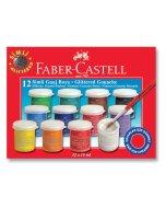 Set guase Fabber Castell Glitter 12 x 15 ml