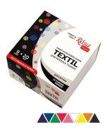Set 9 culori textile Rosa Talent
