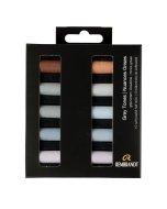 Set pastel uscat Rembrandt 10 x 1/2 - Dark Shades