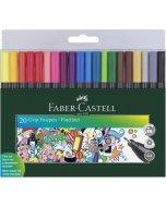 Set linere Faber-Castell Grip 0.4 mm 20
