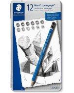 Set 12 creioane Staedtler Lumograph