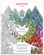 Set carti postale de colorat Caran d'Ache - Espirit Des Alpes 12