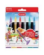 Set 6 markere Bruynzeel Glitter Felt Tips