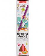 Set 12 creioane colorate Bruynzeel Color Triple Pencile