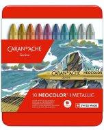Set pastel Caran d'Ache Neocolor I - 10 Metallic