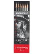 Set creioane Caran d'Ache Grafwood 6