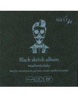 Caiet de desen Authentic Baby Black Album 9 x 9 cm