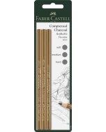 Set creioane Faber Castell PITT Compressed Charcoal 3
