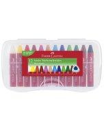 Set creioane cerate Faber Castell Jumbo 12