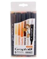 Set 5 carioci cu alcool Graph'it - Hair