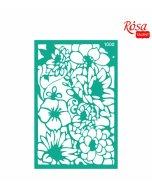 Sablon adeziv 13 x 20 cm nr.1000 - flowers